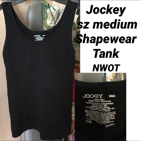 JOCKEY Other - NWOT JOCKEY SZ MED SHAPEWEAR TANK TOP BLACK NWOT